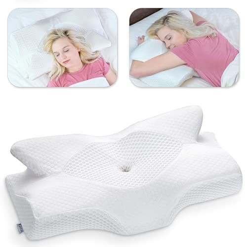 Elviros Cervical Contour Memory Foam Pillow for Neck Pain Orthopedic Neck...