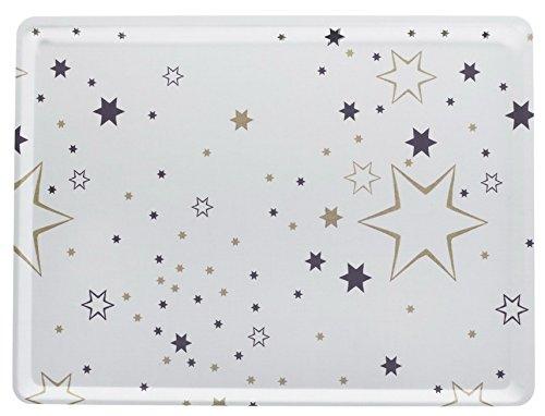 Platex 104030230S Plateau en stratifié Moyen Modèle décor Milky Blanc Fond