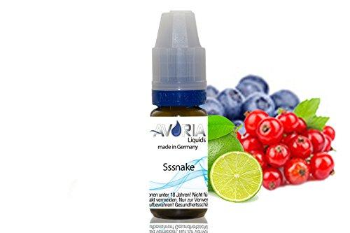 ORIGINAL AVORIA E-LIQUID FÜR DIE E-ZIGARETTE 10ml - ohne Nikotin (10ml - Sssnake)