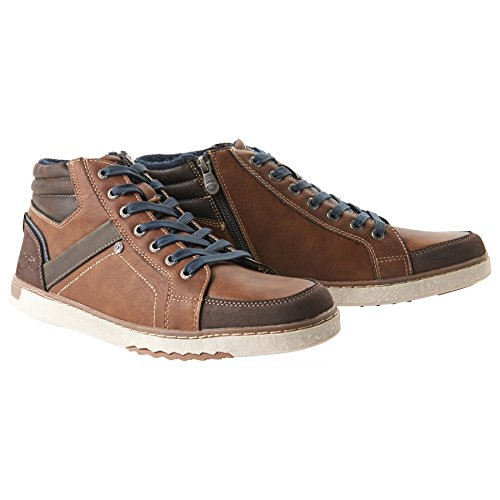 TOM TAILOR Herren 3781404 Hohe Sneaker, Braun (Rust), 44 EU