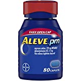 Aleve PM Caplets, Fast Acting Sleep Aid and Pain Relief for Headaches, Muscle Aches, Non-H...