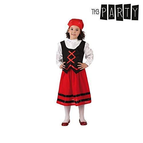Atosa-32143 Disfraz Pastora Niña Infantil-T, Color Rojo, 3 a 4 años (32143)
