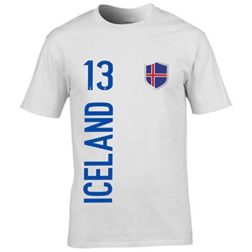 FanShirts4u Kinder Fanshirt Trikot Jersey Island Iceland T-Shirt inkl. Druck Wunschname u. Wunschnummer EM WM (5/6 Jahre 110-116 cm, Iceland/Weiß)