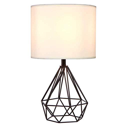 Creatieve tafellamp, stoffen kap van hoge kwaliteit/holle voet HACIA FUERA voor woonkamer slaapkamer nachtlamp (zwart/wit), A