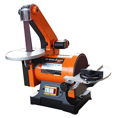 Hanchen Bankschleifer Schleifbandmaschine 250W Holz Metall Bandschleifmaschine Fasmaschine 2850RPM Werkbankwinkel 0-45°