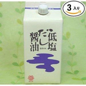 鎌田醤油 低塩だし醤油 200ml×3入り