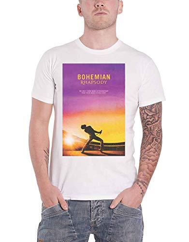 Queen Oficial Bohemian Rhapsody T Shirt Movie Logo Freddie Nuevo De Los Hombres Size XXL