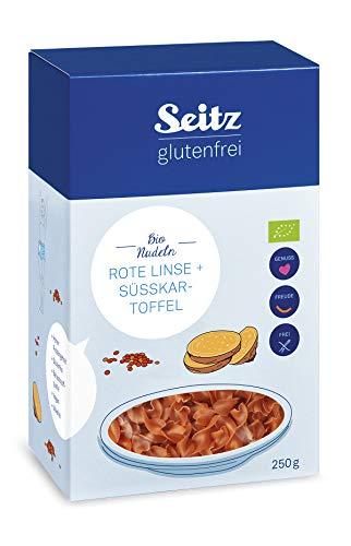 Seitz glutenfrei Bio Rote Linse + Süßkartoffel Nudeln, 250 g