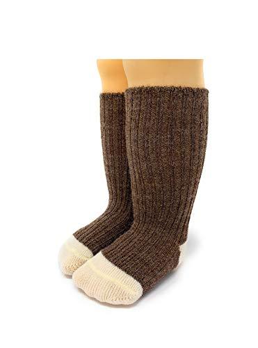 Warrior Alpaca Socks - Baby & Toddler Socks made from natural Baby Alpaca Wool, Dye-Free, Temperature Regulating (Heather / Natural, 0-3 Months)