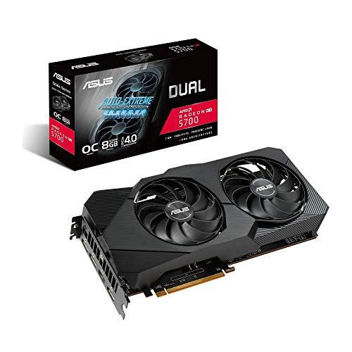 ASUS Dual AMD Radeon RX5700 8GB EVO OC Edition Gaming Grafikkarte (GDDR6 Speicher, PCIe 3.0, 1x HDMI 2.0b, 3x DisplayPort 1.4, Dual-RX5700-O8G-EVO)