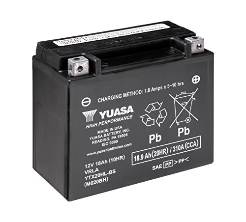 Yuasa YUAM620BH YTX20HL-BS Battery, One Size