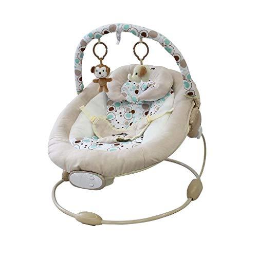 Sotech - Cuna Bouncer, Bouncer para Bebés, Patrón de mono blanco, Tamaño: 57 x 40,4 x 11,6 cm, Carga máxima: 10 kg