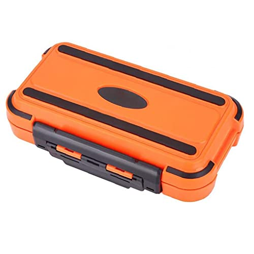 Liadance Angelgerät Boxen Lagerung Köder Locken Organizer mit herausnehmbaren Einteilungen Wasserdicht Tabletts (orange M)
