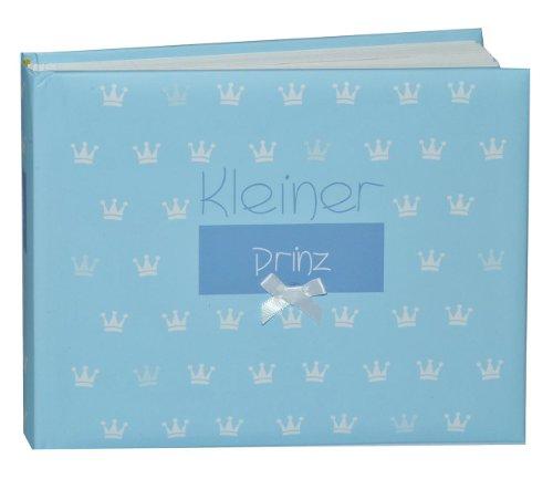alles-meine.de GmbH Fotoalbum Baby erste Fotos - Kleiner Prinz - Gebunden zum Einkleben blanko - klein für bis zu 36 Bilder - Fotobuch / Photoalbum / Babyalbum / Album - für Jung..