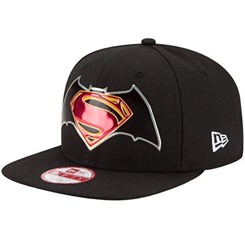 New Era Herren Snapback Cap Title Chrom Batman schwarz S/M