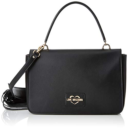 Love Moschino Calf PU, Sac Messager Femme, Noir (Nero), 15x10x15 centimeters (W x H x L)
