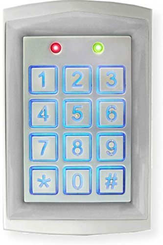 Seco-Larm SK-1323-SDQ Sealed Housing Weatherproof Stand-Alone Digital Access Keypad, Up to 1010 Users, Proximity Reader, Backlit Keys for Nighttime Use, Rugged Aluminum Construction