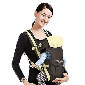 4 en 1 Multifunción Mochila Portabebé Ergonómica Portador de Bebé Transpirable Adjustable Portabebés Marsupi Fular para bebé Recien Nacido (Caqui)