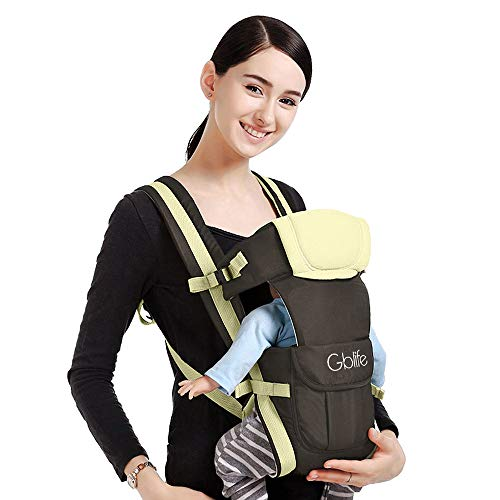 Ergonomische Babytrage Babytragetuch Einstellbares Mehrere Positionen Multifunktions-Freisprecheinrichtung Verstellbarer Rucksack für Baby Neugeborene/Kleinkinder (Beige)