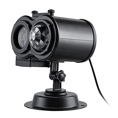 Mabor Lámpara de proyección animada lámpara paisaje proyector luces portátil hermoso al aire libre 15W doble cilindro