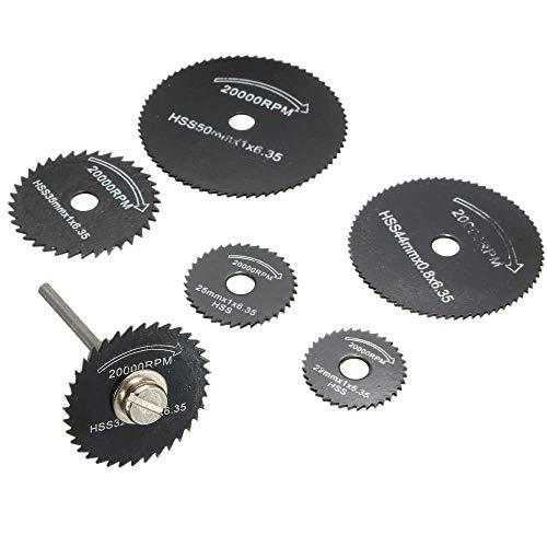 Cutting Discs for Dremel Rotary Tool, Mini Diamond Cutting Wheel and HSS Circular Saw Blades and Resin Metal Cutting Wheels Tools Wood Metal Stone Cutting (Disc Drill Blades)