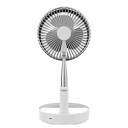 Mini ventilador plegable telescópico USB recargable para estudiantes, portátil, pequeño dormitorio eléctrico, oficina, escritorio, gran viento