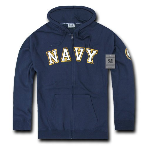 Rapiddominance US Navy Full Zip Hoodie, Small