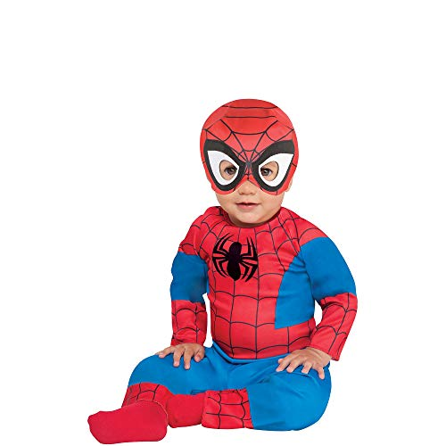 Suit Yourself Spider-Man Halloween Costume for Babies, Marvel Comics, 6-12M, Includes Jumpsuit and Hat with Mask