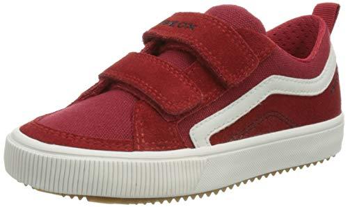 Geox J Alonisso Boy A Sneaker, RED/White, 28 EU
