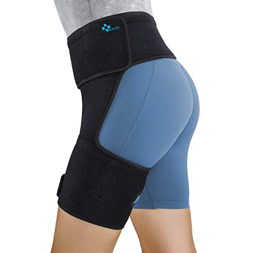 REAQER Hip Thigh Support Brace Groin Compression Wrap for Pulled Groin...