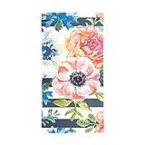 Janhe Scialle in chiffon con fascia silenziata a fiori tropicali Sciarpa lunga in seta Scialle spesso