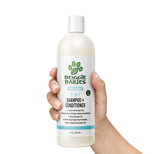 Doggie Dailies Shampoo for Dogs: 2-in-1 Dog Shampoo and Conditioner