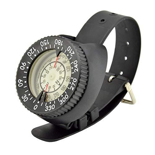 Brújula de buceo, brújula de buceo profesional de alta precisión, brújula de 50 m / 164 pies, brújula para exteriores