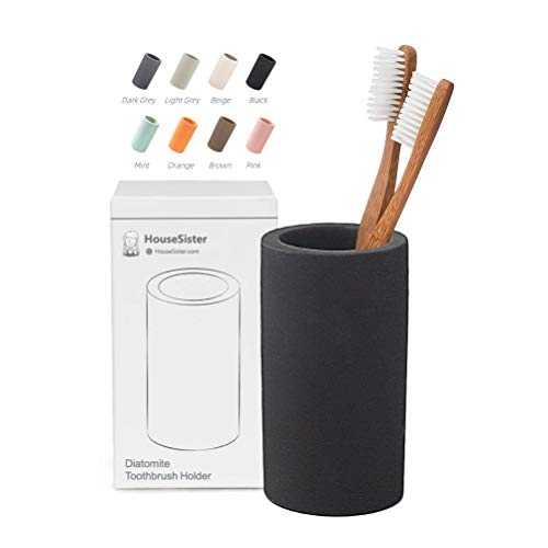 in budget affordable HouseSister Bio Diatomaceous Earth Toothbrush Toothpaste Makeup Brush Shaver Holder Bathroom…