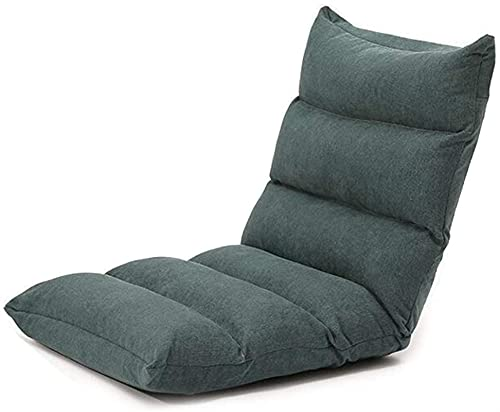 Sillas plegables Dormitorio Ocio reclinable Sala de Estar Plato Cacahuete Largo balcón pequeño sofá Accesorios caseros (Color : Dark Gray, Size : 55 * 55 * 52cm)