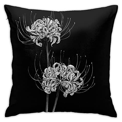 AJOR Flor - Funda de almohada cuadrada de 45,7 x 45,7 cm, funda de almohada para decoración del hogar