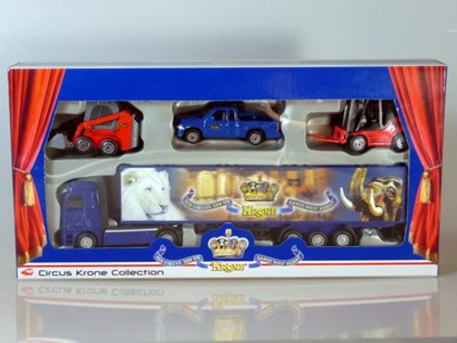 DICKIE  Circus Krone Collection,  truck with 3 vehicles