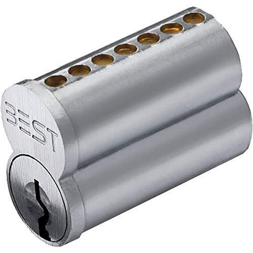 Stanley Best 1C7E1626 Best 1C 7 Pin Núcleo sin combinar, E Keyway, cromo satinado