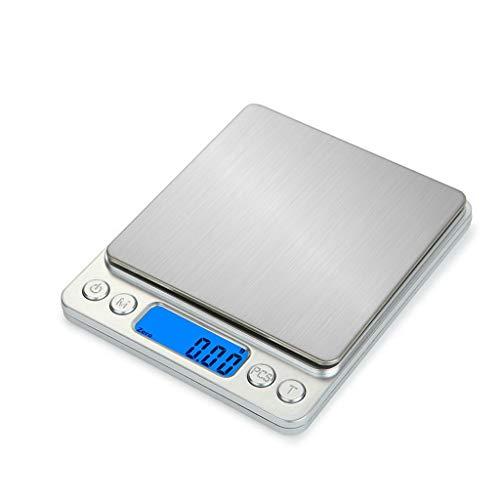 3000g/0.1g Báscula Digital Electrónica Balanza Balanza 500g/0.01g LCD Digital Personal Joyería Escala Mini Gram Escalas de Hornear