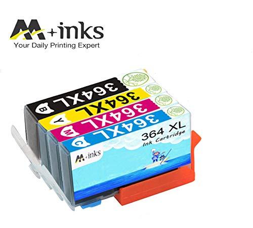 AA+inks 4 confezioni di ricambio per Sostituito per cartucce d'inchiostro HP 364XL 364 Compatibile con HP Photosmart 6520 5510 7510 7520 6510 5515 5520 C5380 B110a Stampanti HP OfficeJet 4620 4622