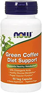 Now Green Coffee Diet Support 400 mg Vegetable Capsules, 90 Capsules