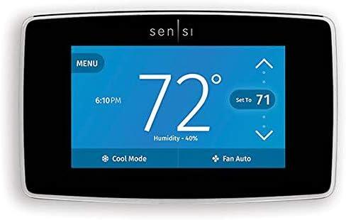 "WiFi Thermostat, 3-13/32"" H, White"