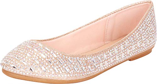 Top 10 best selling list for champagne crystal flat shoes