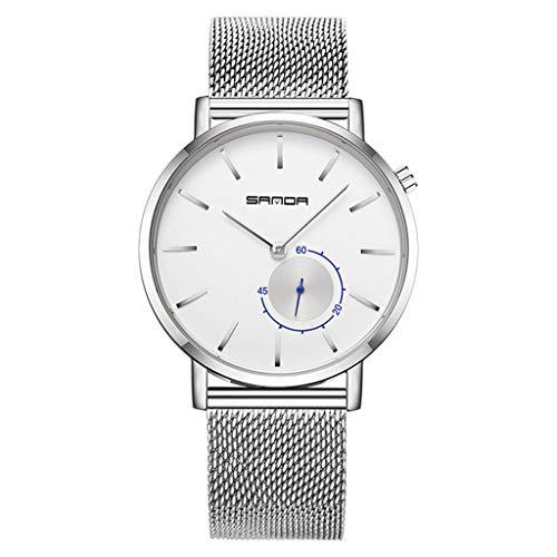 GLEMFOX herenmode horloge perfect kwartsuurwerk business mesh klok eenvoudige wijzer beste herengeschenk armband Large #4