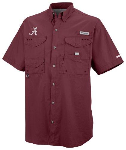 NCAA Columbia Alabama Crimson Tide Crimson Bonehead Short Sleeve Shirt