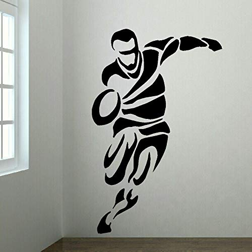 NA Motivational Wall Sticker Quotes Large Upto 6Ft Rugby Player Bedroom Sticker Decal Home Sticker Sticker