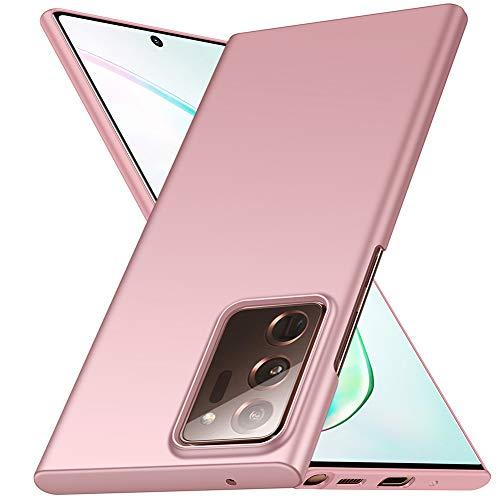 ORNARTO Hülle für Samsung Note 20 Ultra, Ultra Dünn Schlank Anti-Scratch FeinMatt Einfach Handyhülle Abdeckung Stoßstange Hardcase für Samsung Galaxy Note 20 Ultra 5G(2020) 6,9 Zoll Rose Gold