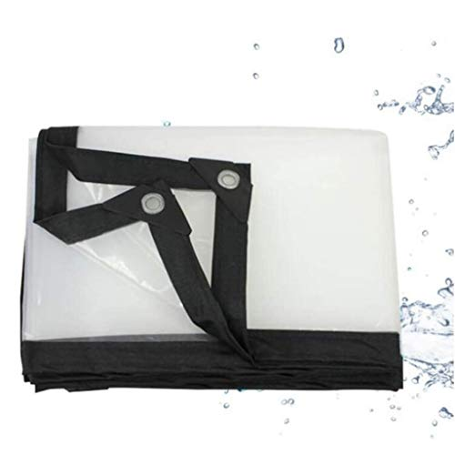 QI-CHE-YI Transparent waterproof cover tarpaulin, heavy duty dustproof and rainproof tarp, very suitable for tent, boat, RV or swimming pool cover,2x3m