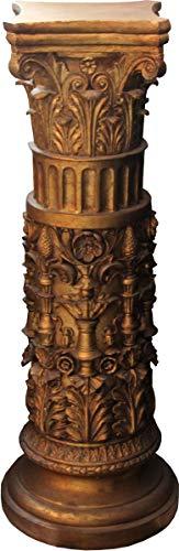 Casa Padrino, Columna barroca Dorada 103 x 37 cm - Columna de Estilo Antiguo