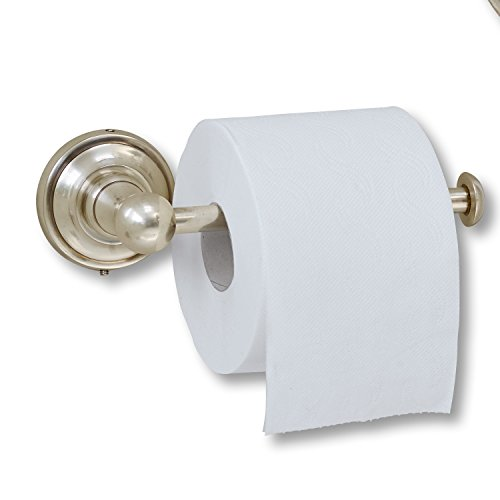 Loberon Toilettenpapierhalter Pax, Messing, H/B/T ca. 7/21,5/9,5 cm, antiksilber